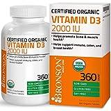 Bronson Vitamin D3 2000 IU Certified Organic Vitamin D Supplement,...