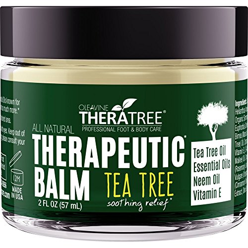 Tea Tree Oil Balm with Neem Oil - Helps Fight Common Causes of Skin Irritation and Helps Soothe Dry, Itchy Skin - by Oleavine TheraTree (Tea Tree Balm Foot)