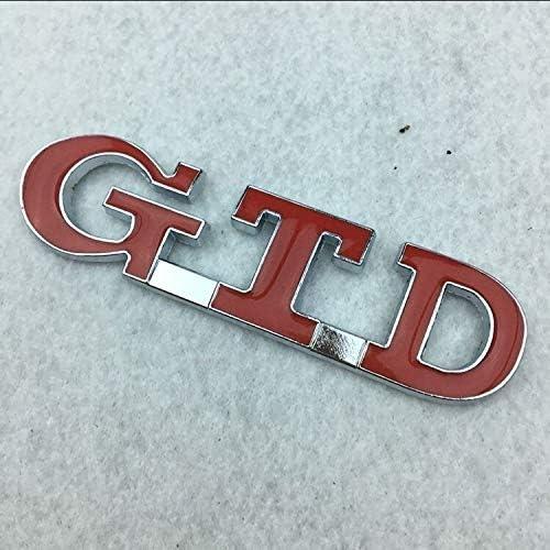 Adesivi in vetro per veicoli automobilistici lettere di abbonamento allegate al logo in metallo standard modificato 3D stereoscopico di conversione etichettatura GTD adesivi di vetro