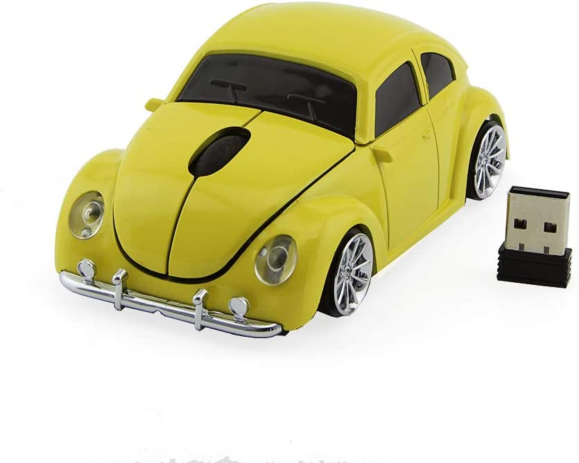 Red Office Home Wireless Car Mouse,Winnes 2.4GHz Mini Mouse 3D Sport Car Shaped Ergonomic Design Mini Mice with USB Receiver for PC Laptop Computer Notebook iMac MacBook Microsoft Pro