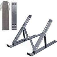 Portable Laptop Stand Available in Silver and Grey, Aluminium Alloy Multi-Angle Height Adjustable Cooling Tablet Holder…