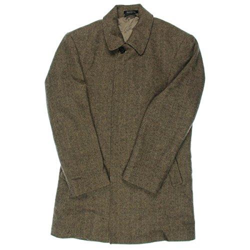 RALPH LAUREN Tan and Brown Herringbone Five Button Wool Blend New Men's Coat (42 Regular) by RALPH LAUREN