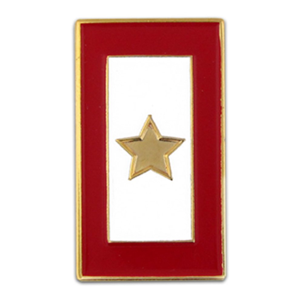 PinMart's Gold Star Service Flag for a Fallen Soldier Enamel Lapel Pin