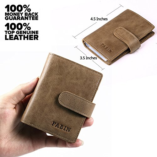 RFID Blocking Genuine Leather Business Card Holder For Men
