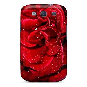 BestLove4U Scratch-free Phone Case For Galaxy S3- Retail Packaging - Fresh Red Rose