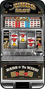 Jumbo Slot Machine- Case for the Apple Iphone 4s-4s Universal-Hard Black Plastic
