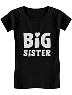 Big Sister Est 2019 Sibling Gifts Girls Fitted Kids T-Shirt Tstars