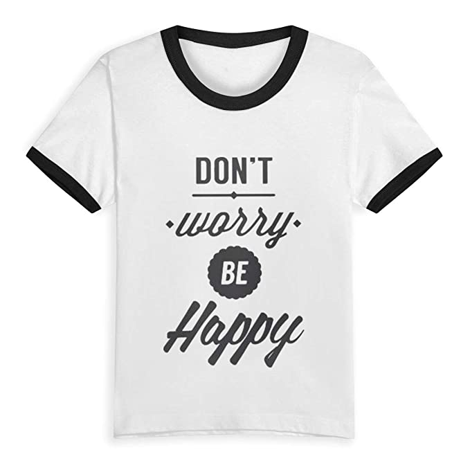 5ceffc2f Amazon.com: CHETI Don't Worry Be Happy Children Kids Boys Girls Short  Sleeve T-Shirt Tee 2T-6T: Clothing