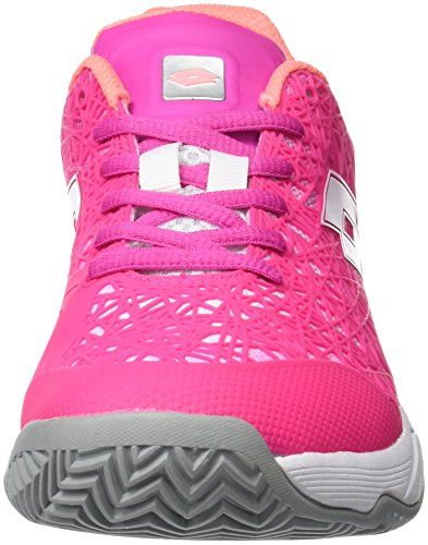 Lotto Viper Ultra III Cly W, Women's Sneakers Various Colours (Multi-coloured / Fux Fl / Wht)