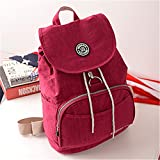 Women Backpack Waterproof Backpack Backpacks Casual Travel Bag Purple Red