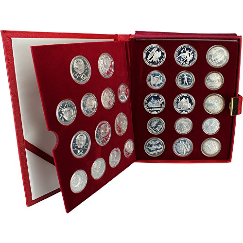 - RU 1980 Moscow Olympic Silver 28 Coin Set in Original Packaging Proof