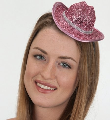 Pink Foil Mini Cowboy Hat (Cowboys Pink Mini)