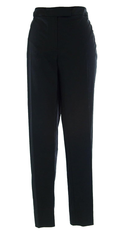MARINA RINALDI by MaxMara Futer Black Straight Leg Trouser Pants 12W / 21