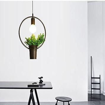 JCRNJSB® Einfache Moderne Wohnzimmer Restaurant Kronleuchter Pflanze Blumen  Und Pflanzen Eisen Persönlichkeit Schlafzimmer Studie Kronleuchter