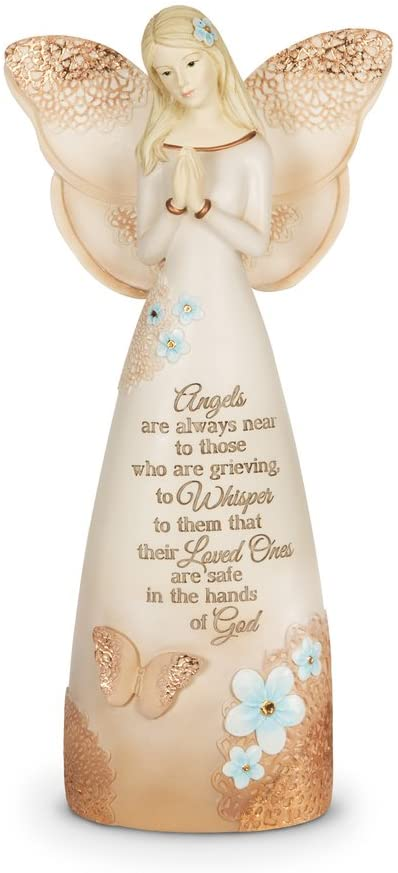 Pavilion Gift Company 19044 Light Your Way Memorial Loved Ones Angel Figurine, 9-Inch