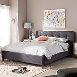 Baxton Studio Germaine King Platform Bed in Dark Gray