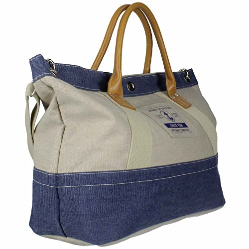 Antonio Strandtasche L , Beach Bag, Casual Spirit Saint-Tropez beige+blue