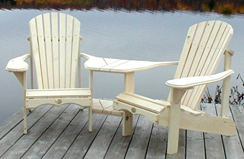 (Bear Chair Adirondack Angled Tete-a-Tete Kit, Pine, BC950P)