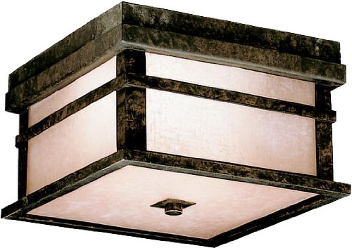 Kichler 9830AGZ Cross Creek Outdoor Ceiling 2-Light, Aged Bronze