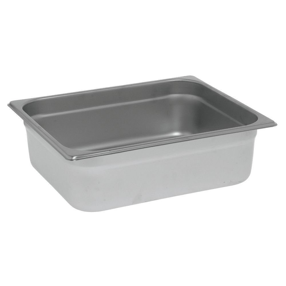 HUBERT Steam Table Pan, 1/2 Size 24 Gauge Stainless Steel - 4' D 1/2 Size 24 Gauge Stainless Steel - 4 D