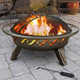 Landmann Patio Lights Vsb Firewave Wood Fire Pit - Brown