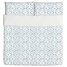 Waves And Diamonds Duvet Bed Set 3 Piece Set Duvet Cover - 2 Pillow Shams - Luxury Microfiber, Soft, Breathable