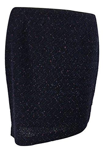 Elie Tahari Wool Skirt - Elie Tahari Women's Bennet Stretch-Wool Tweed Pencil Skirt, Deep Amethyst Multi, 6