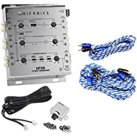Hifonics HFXR 3-Way Active Crossover With Remote + 17 + 6 RCA Cables