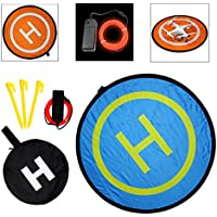SSE 32 (80cm) Collapsible Drone Pad Landing Pad Launch Pad with Lighting Kit, Gamma Orange, 94