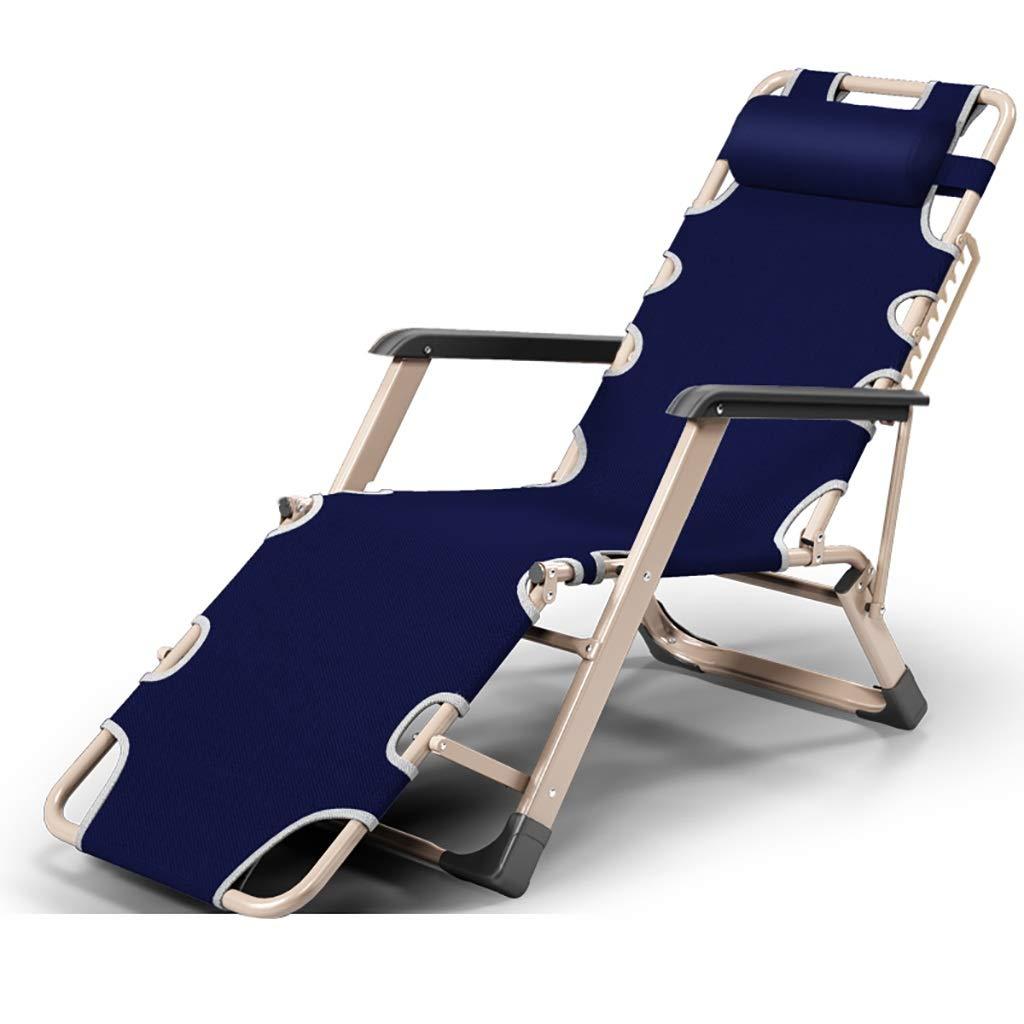 MXRzdya Sillas Plegables Sillón reclinable Plegable Individual Plegable para el Almuerzo Descanso para el Almuerzo Simple Silla para la Siesta de Oficina (Color : A)