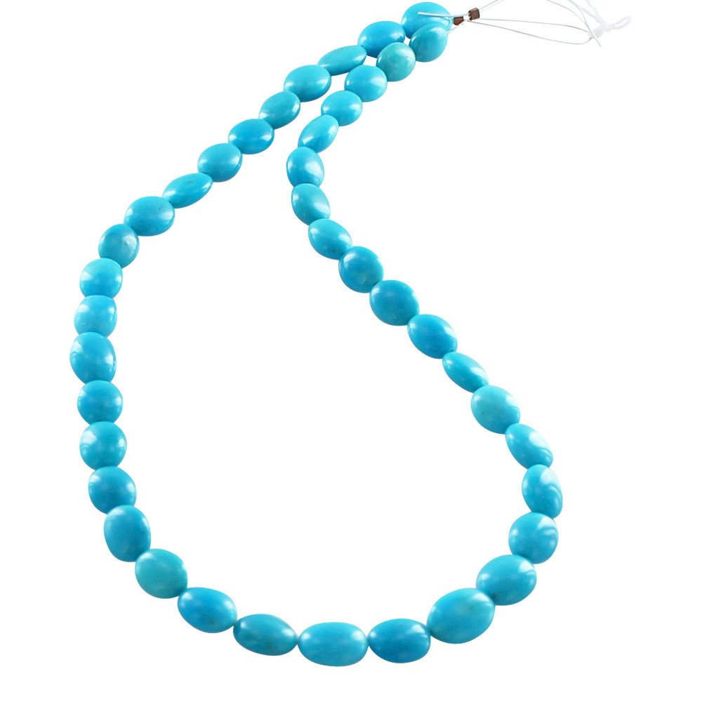 Asianbeads perlas PERSAS 10x8mm ovalada de color turquesa 16