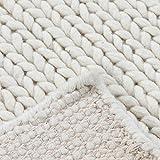 Wool Area Rug 8x10 ft Handmade Woven Rectangle