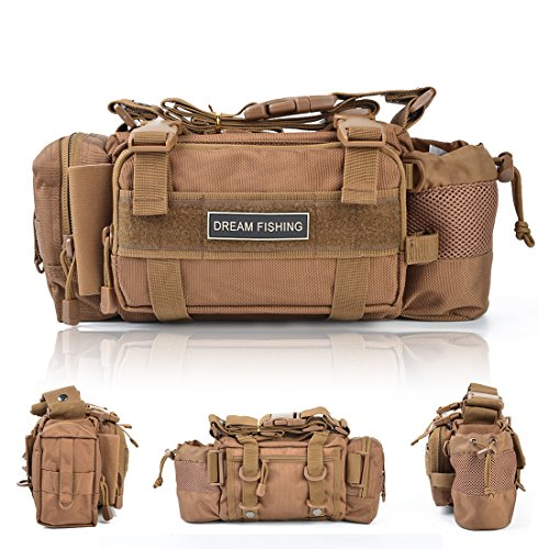 - BLISSWILL Portable Outdoor Fishing Tackle Bags Waist Fishing Bag Fishing Gear Storage Bag Water-Resistant Multifunctional Bag Fly Fishing Bag Durable Handbag Bags for Fishing(Khaki)