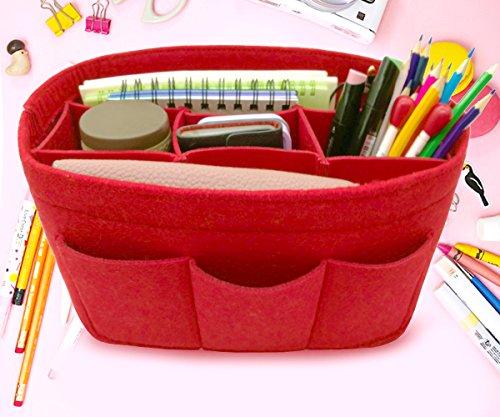 LEXSION Felt Handbag Organizer,Insert purse organizer Fits Speedy Neverfull Red M by LEXSION (Image #5)