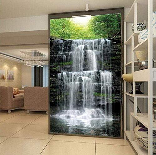 Hxcok 壁紙3d不織布シルク布カスタム壁画滝風景リビングルーム入口写真背景壁紙家の装飾壁紙-400X280CM