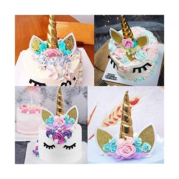 Makadami Unicorn Cake Topper - Unicorn Cake Decorations - Unicorn Cupcake Topper - Unicorn Horn Headband - Unicorn Party… 4