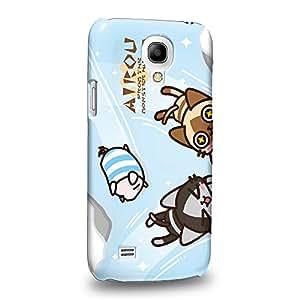 Case88 Premium Designs Monster Hunter Poka Poka Airou Giri-AiruG Pugi 1149 Carcasa/Funda dura para el Samsung Galaxy S4 mini (No Normal S4 !)