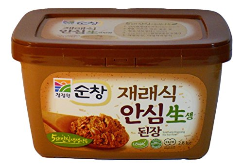 Chung Jung One Soybean Paste - Extra Large Size 2.8 Kg. / 6.6lb Tub