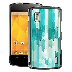 A-type Arte & diseño plástico duro Fundas Cover Cubre Hard Case Cover para LG Nexus 4 E960 (Abstract Teal Blue Futuristic)