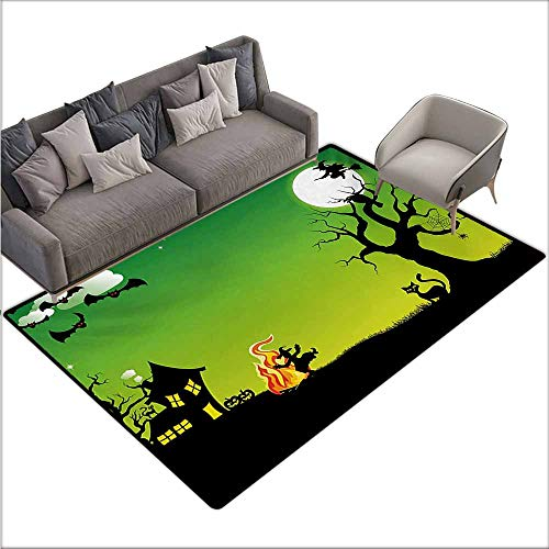 Children's Rugs Playrug Rugs Halloween Witches Dancing with