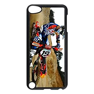Motor Bike Snap-on Hard Back Case for iPod Touch 5 5th Gen,Waterproof Hard Plastic Cover Phone Case For Ipod Touch 5,Motor Bike Case Cover Protector for iPod Touch 5/5th Generation (Black/White)