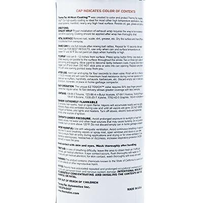 Thermo-Tec 12001: Exhaust Wrap Coating, High-Temperature, Black, 11 oz. Spray Can, Each (1): Automotive