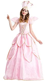 Women s Fairy Godmother Costume Halloween Retro Court Suit Stage Show  Princess Dress Pink cb3c7c6916