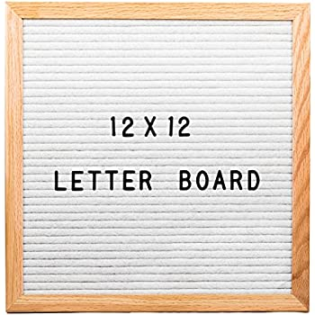 Amazoncom white letter board 12x12 inch best size for Felt letter sign