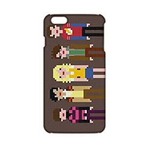 Fortune 3D Case Cover Cross-Stitch Family Phone Case for iPhone6 plus
