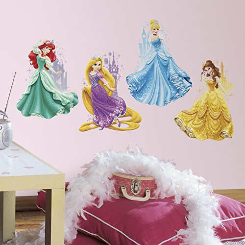 RoomMates RMK2772TB Disney Princesses and Castles Peel and Stick Giant Wall Decals, 18