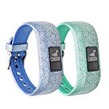 12 Colors Garmin Vivofit JR Bands With Secure Watch Clasp - BeneStellar Silicone Replacement Bands for Garmin Vivofit JR (for Kids) (Blue+Teal)