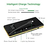 VIVIS VTB-68 15000 mAh Power Bank, Built-in Micro Usb Cable and Lightning Connector, Phone Stand Holder Pure Co Li-Polymer Core External Battery Pack for Iphone, Samsung, Tablets etc.