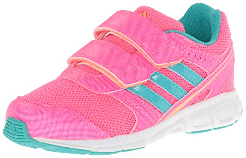 adidas Performance Hyper Fast CF I 2 Strap Shoe (Toddler), Solar Pink/Mint/Orange, 9.5 M US Toddler