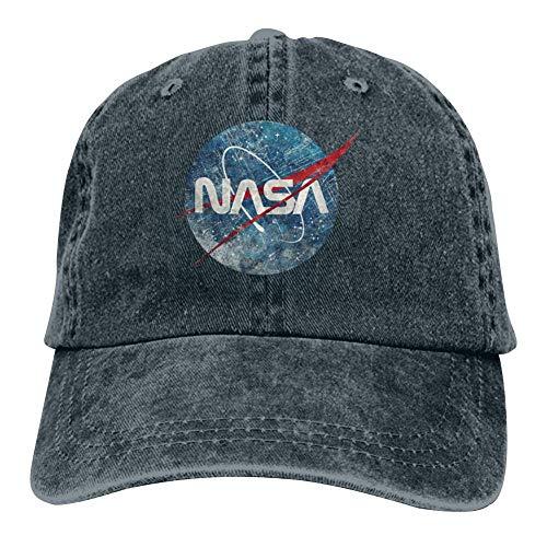 Heiazha Hipster Printed Cowboy Cap,NASA Fusion Emblem Ultra-Vintage Denim Hat Snapback Cap for Adult Mens Womens